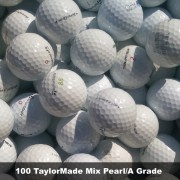 100 TaylorMade Mix Pearl/A Grade Golf Balls - FREE SHIPPING