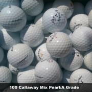 100 Callaway Mix Grade Golf Balls -  Pearl/A Grade