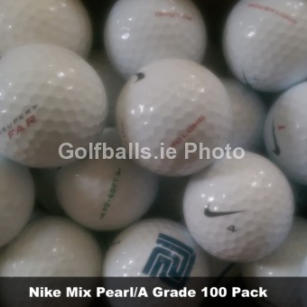 25 Nike Mix Golf Balls - Pearl/A Grade