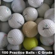 100 Practice Golf Balls