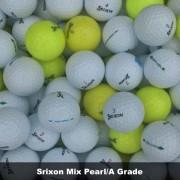 100 Srixon Mix Grade Golf Balls - Pearl/A